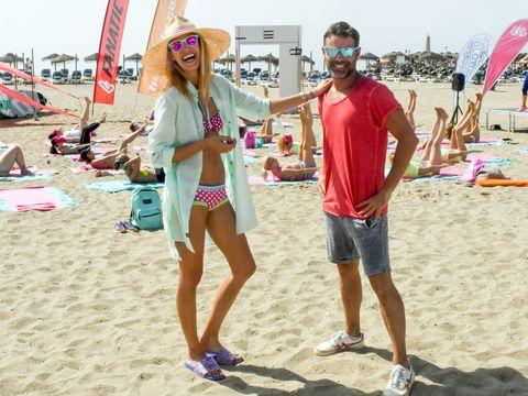 Eyewear, Glasses, Fun, Sand, Textile, Tourism, Summer, Shorts, People on beach, T-shirt,
