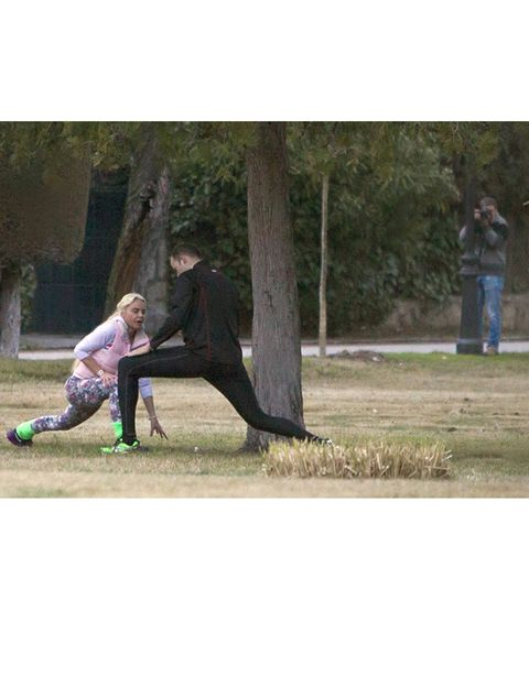 Human, People in nature, Jacket, Park, Active pants, Love, Boot,