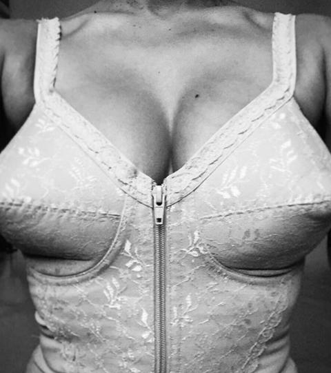 White, Clothing, Waist, Abdomen, Brassiere, Chest, Trunk, Corset, Undergarment, Undergarment,