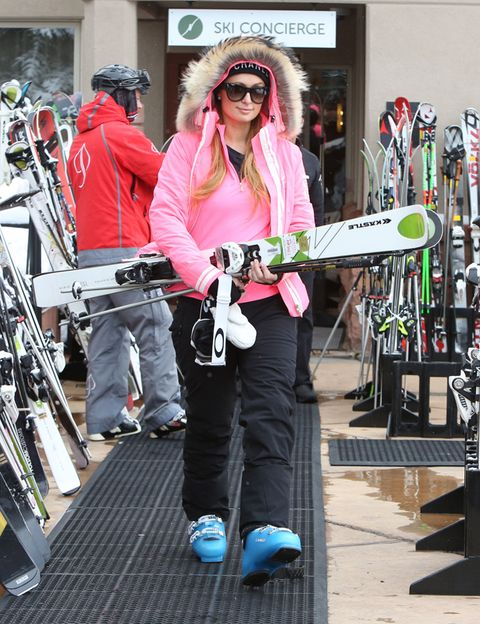 Goggles, Sunglasses, Pink, Hat, Ladder, Scarf, Active pants,