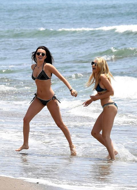 People on beach, Bikini, Fun, Photograph, Vacation, Swimwear, Beauty, Beach, Undergarment, Leg,