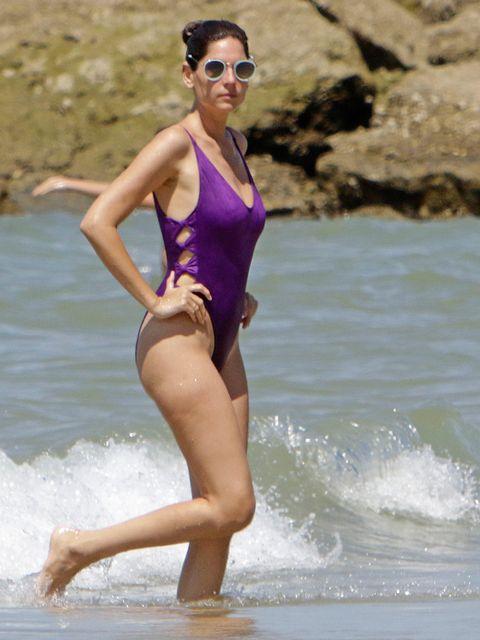 Clothing, Swimwear, Beauty, Leg, One-piece swimsuit, Vacation, Summer, Fun, Maillot, Sportswear,
