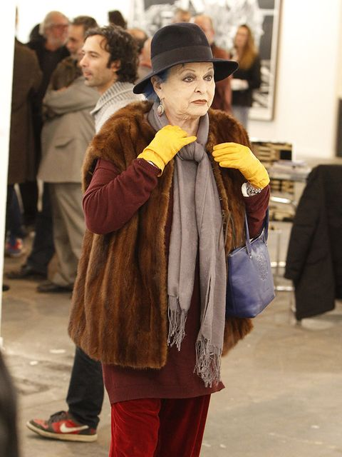 Yellow, Snapshot, Fashion, Street fashion, Outerwear, Child, Event, Fur, Textile, Tourism,