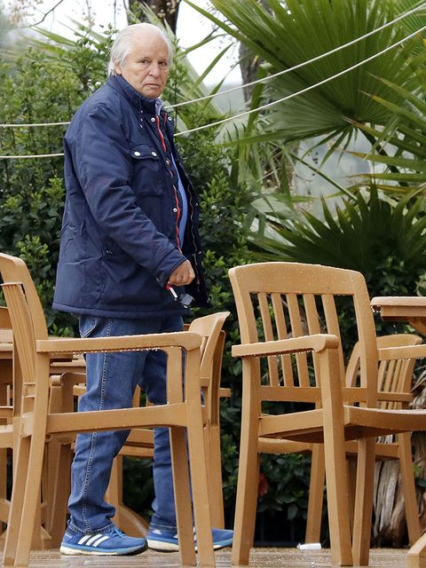 Jacket, Furniture, Denim, Chair, Sabal minor, Sitting, Arecales, Outdoor furniture, Saw palmetto, Wood stain,