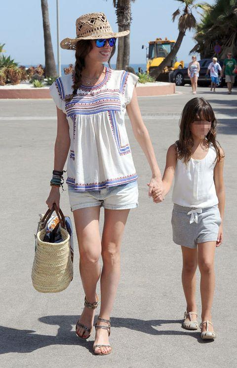 Clothing, Footwear, Hat, White, Fashion accessory, Bag, Summer, Street fashion, Shorts, Sun hat,