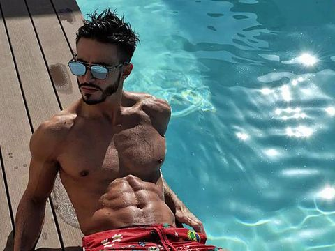 Barechested, Cool, Chest, Muscle, Eyewear, board short, Sunglasses, Summer, Abdomen, Swimming pool,