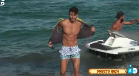 Barechested, Vacation, Fun, Muscle, Jet ski, Swimwear, Recreation, Boating, Personal water craft, Chest,