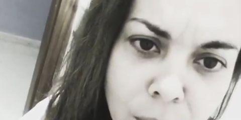 Face, Hair, Lip, Eyebrow, Nose, Facial expression, Cheek, Skin, Beauty, Head,