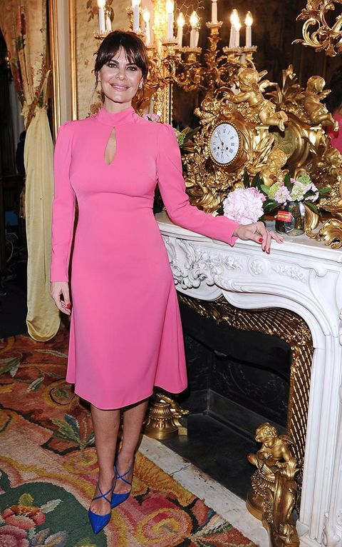 Dress, Hearth, Pink, Formal wear, One-piece garment, Magenta, Jewellery, Day dress, Interior design, Blazer,