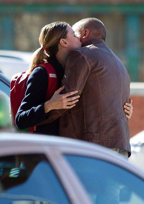 Ear, Kiss, Romance, Interaction, Love, Honeymoon, Gesture, Hug, City car,