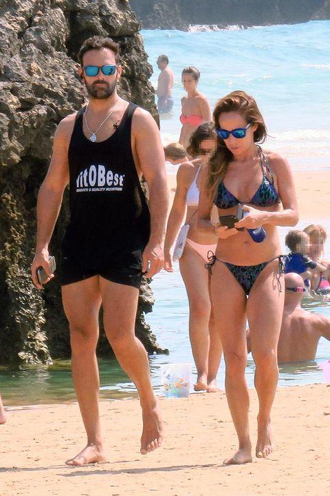People on beach, Vacation, Fun, Bikini, Beach, Spring break, Undergarment, Swimwear, Summer, Leg,