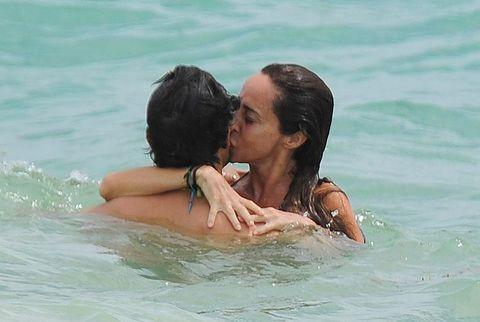 Fun, Bikini, Vacation, Interaction, Summer, Water, Swimwear, Happy, Black hair, Honeymoon,