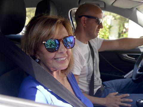 Eyewear, Sunglasses, Cool, Vehicle, Driving, Luxury vehicle, Glasses, Car, Fun, Car seat,