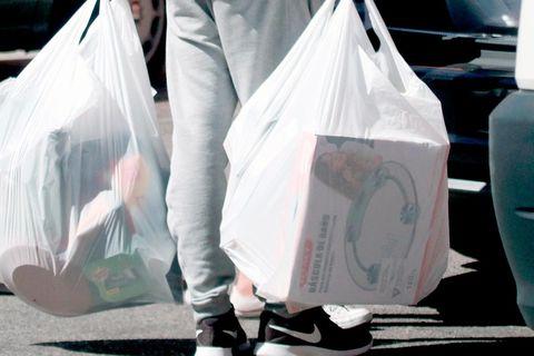 White, Plastic bag,