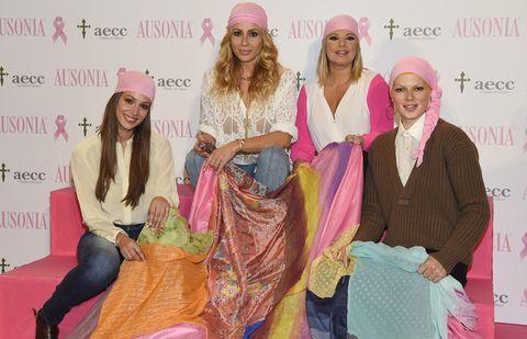 Face, Nose, Eye, Human body, Happy, Pink, Magenta, Headgear, Fashion accessory, Fashion,