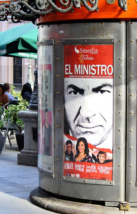 Human, Advertising, Umbrella, Poster, Signage, Banner, Sidewalk, Billboard, Flowerpot, Communication Device,