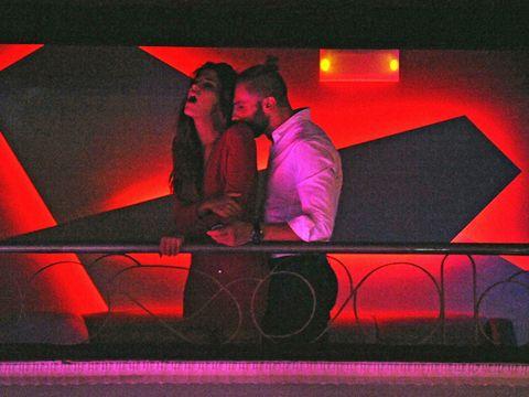 Magenta, Purple, Interaction, Stage, Love, Romance,