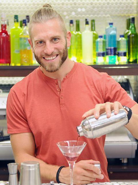 Bottle, Drinkware, Serveware, Beard, Plastic bottle, Drink, Alcohol, Barware, Martini glass, Glass bottle,