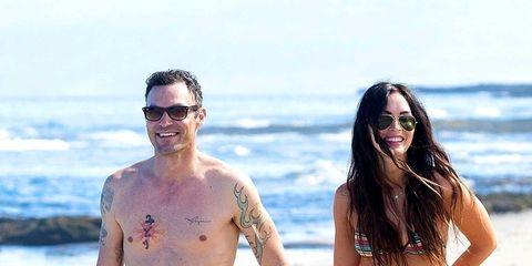 Clothing, Eyewear, Leg, Fun, People on beach, Human body, Brassiere, Photograph, Standing, Beach,