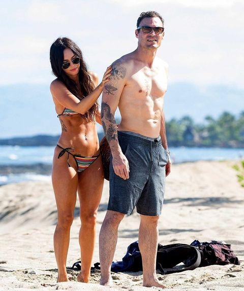 Clothing, Eyewear, Vision care, Fun, People on beach, Sand, Brassiere, Summer, Beach, Sunglasses,