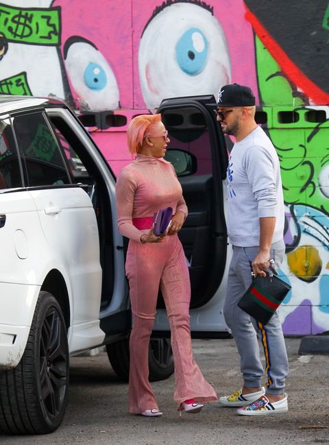 Pink, Vehicle door, Car, Vehicle, Jeans, Fashion, Graffiti, Automotive design, Street art, Footwear,