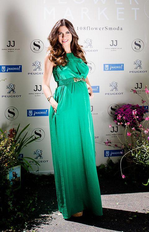 Dress, Green, Shoulder, Formal wear, Style, One-piece garment, Flowerpot, Waist, Day dress, Teal,