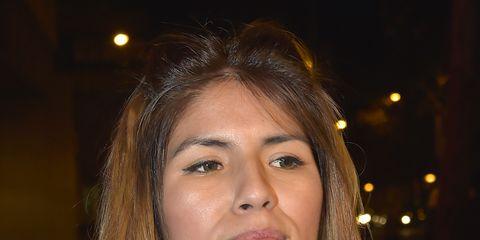 Hair, Face, Eyebrow, Hairstyle, Lip, Long hair, Chin, Beauty, Nose, Brown hair,