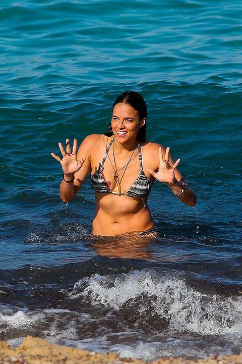 Water, Fun, Vacation, Beauty, Sea, Summer, Beach, Bikini, Happy, Abdomen,