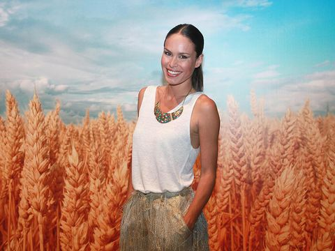 Yellow, Grass family, Sky, Fashion, Summer, Field, Human, Crop, Plant, Photography,