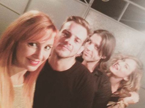Hair, Face, People, Selfie, Head, Hairstyle, Friendship, Blond, Beauty, Nose,