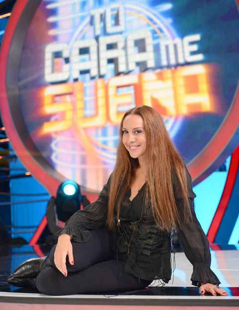 Long hair, Brown hair, Layered hair, Boot, Makeover, Television program, Television presenter, Leather, Model, Fashion model,