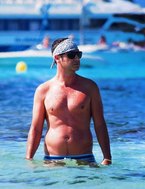 Blue, Water, Leisure, Chest, Barechested, Goggles, Summer, Cap, Aqua, Muscle,