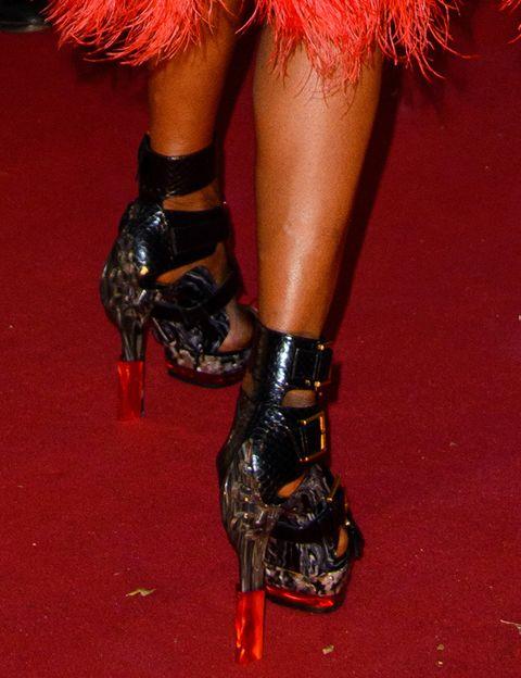Red, Fashion, Body jewelry, High heels,