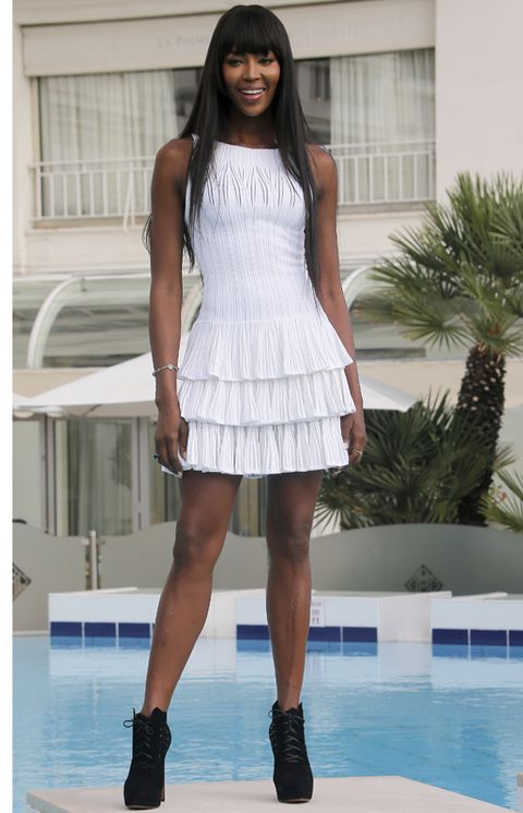 Clothing, Human leg, Shoulder, Swimming pool, Joint, Dress, Style, Fashion show, Waist, Thigh,