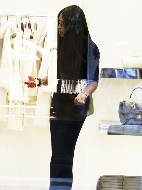 White, Clothing, Black, Shoulder, Fashion, Neck, Outerwear, Jeans, Leg, Footwear,