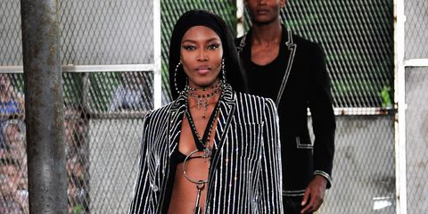 Jewellery, Street fashion, Mesh, Thigh, Black hair, Undergarment, Abdomen, Trunk, Necklace, Lingerie,
