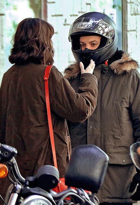 Helmet, Motorcycle helmet, Personal protective equipment, Vehicle, Jacket, Headgear, Motorcycle, Bicycles--Equipment and supplies, Outerwear, Motorcycling,