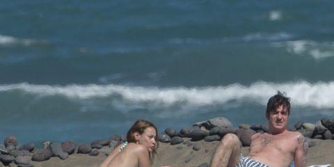 Fun, Swimwear, Leisure, Sand, Sitting, Summer, Tourism, Barechested, Beach, Sun tanning,