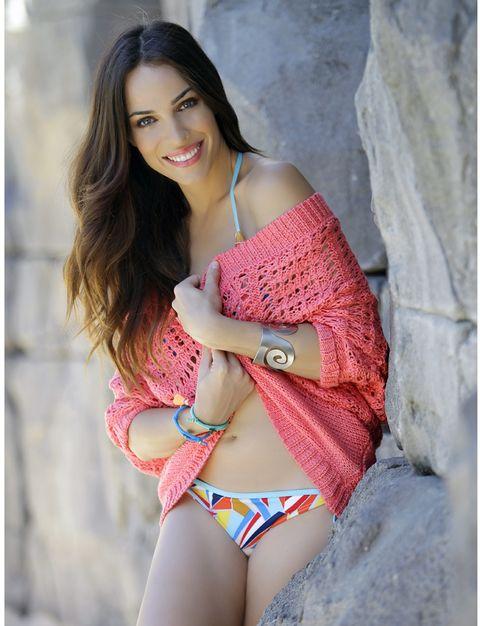 Clothing, Skin, Shoulder, Textile, Swimwear, Joint, Bikini, Lingerie, Summer, Elbow,