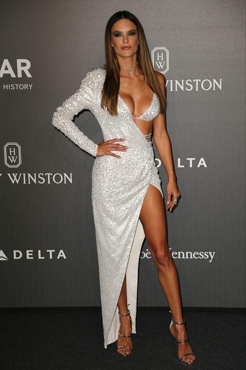 Clothing, Fashion model, White, Dress, Shoulder, Fashion, Cocktail dress, Beauty, Leg, Thigh,