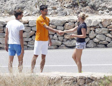 Leg, Human body, Human leg, Shorts, Rock, Summer, Active shorts, Bedrock, Tourism, Vacation,