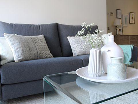 Room, Interior design, Wall, Living room, Serveware, Couch, Dishware, Home, Furniture, Interior design,