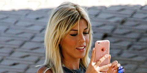 Blond, Surfer hair, Technology, Electronic device, Gadget, Photography, Mobile phone,