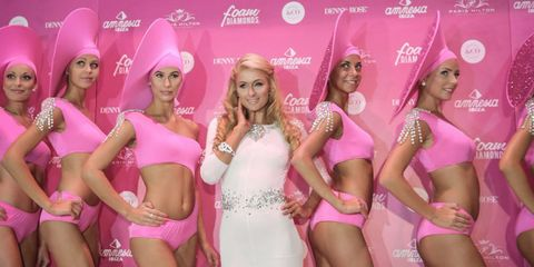 Leg, Pink, Thigh, Magenta, Headgear, Waist, Fashion, Abdomen, Beauty, Trunk,