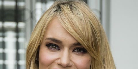 Hair, Face, Blond, Hairstyle, Eyebrow, Lip, Layered hair, Chin, Hair coloring, Beauty,