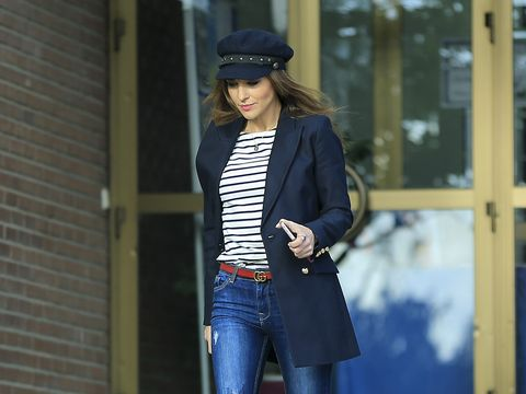 Clothing, Sleeve, Denim, Jeans, Textile, Outerwear, Cap, Style, Street fashion, Jacket,