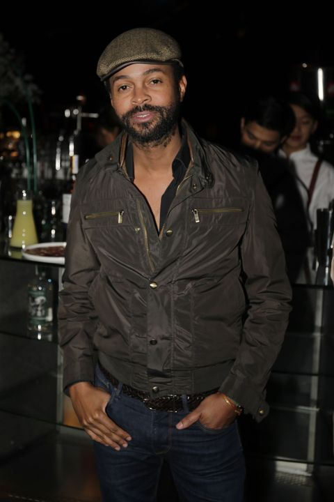 Leather, Denim, Cool, Facial hair, Jacket, Textile, Outerwear, Leather jacket, Headgear, Muscle,