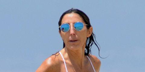 Eyewear, Sunglasses, Shoulder, Glasses, Sun tanning, Vacation, Summer, Swimwear, Neck, Bikini,
