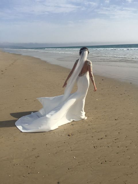 Body of water, Natural environment, Coastal and oceanic landforms, Sand, Photograph, Dress, Shore, Ocean, Summer, Beach,
