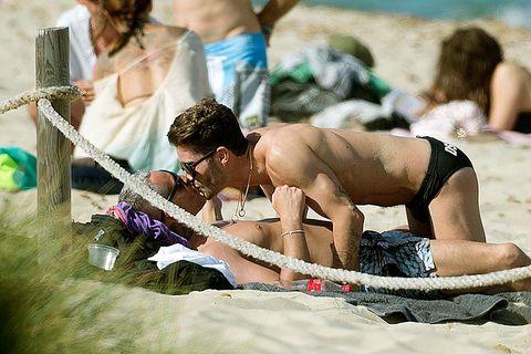 Sun tanning, Fun, Summer, Photography, Bikini, Barechested,